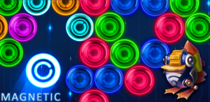 Magnetic balls: Neon - Match 3 bubble shooter mobile game